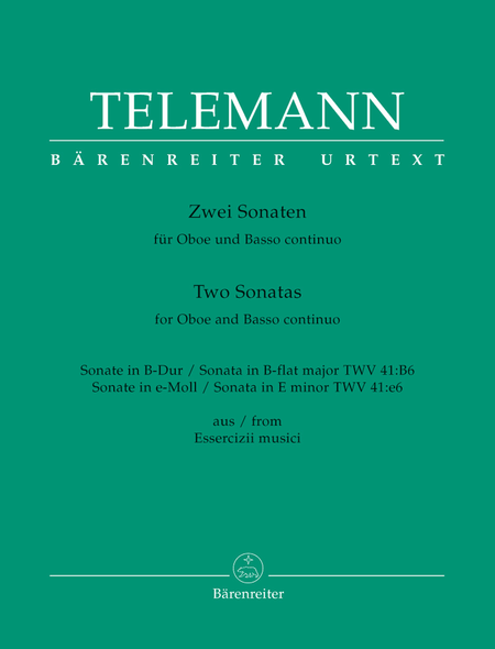 Two Sonatas for Oboe and Basso continuo