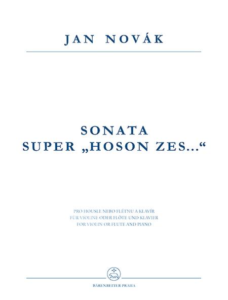 Sonata super Hoson zes... for Violin oder Flote und Klavier