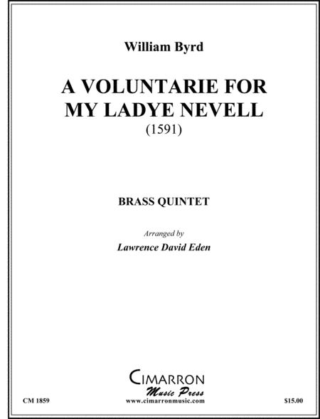 A Voluntarie for Ladye Nevell