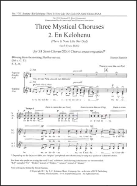 En Kelohenu (There Is None Like Our God)