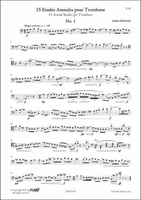 15 Atonal Studies for Trombone
