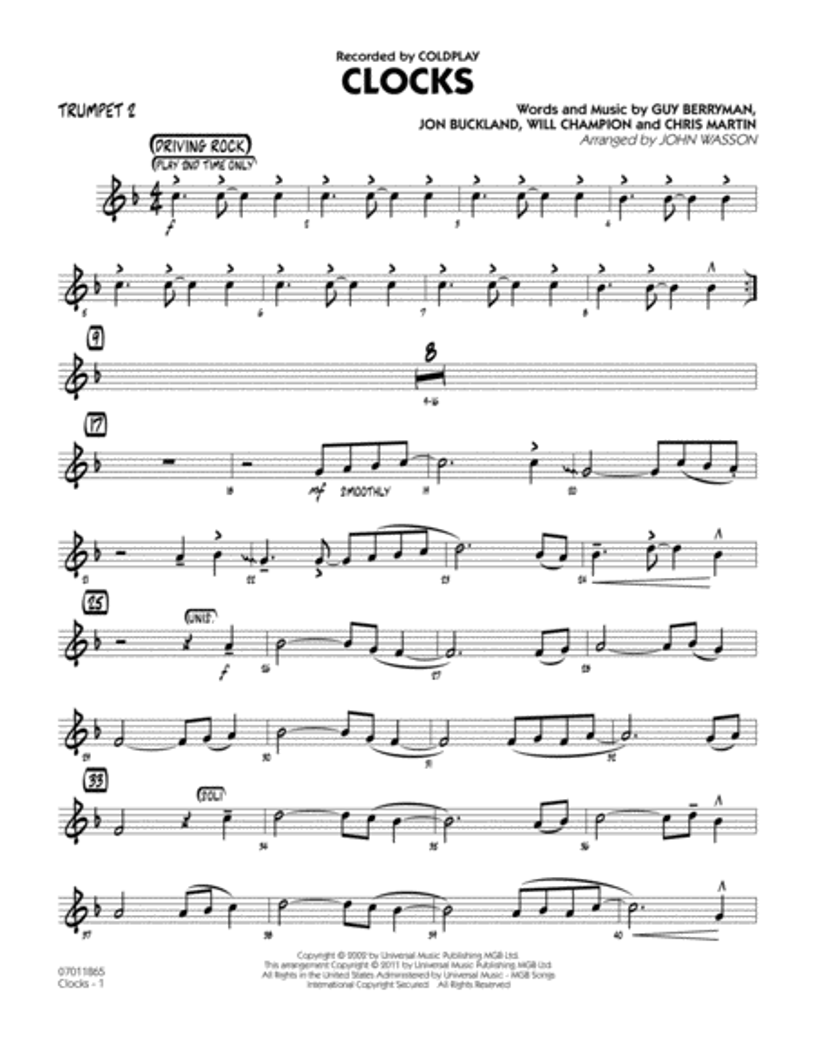 Clocks - Trumpet 2