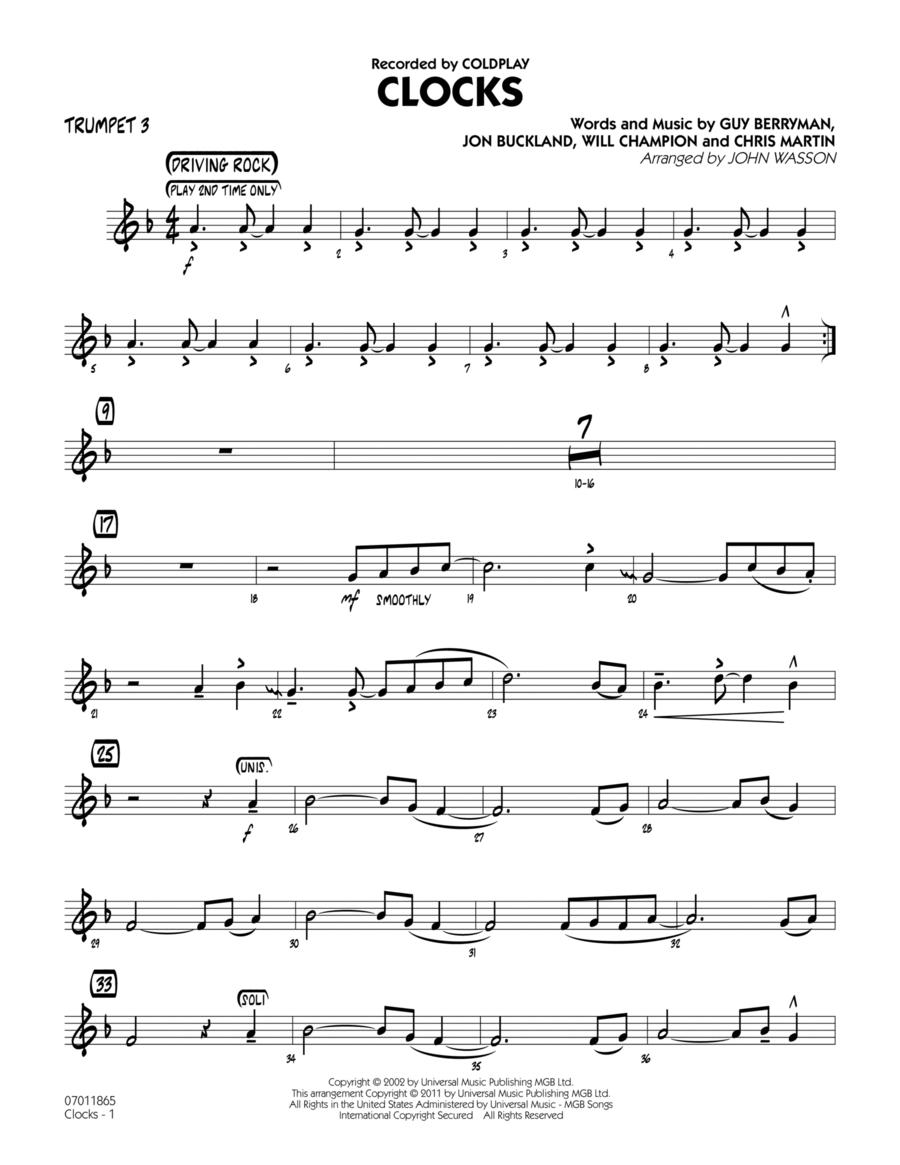 Clocks - Trumpet 3