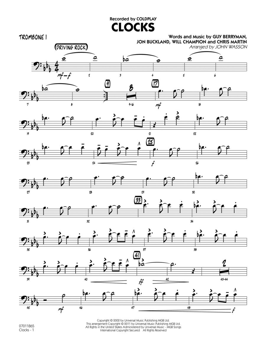 Clocks - Trombone 1