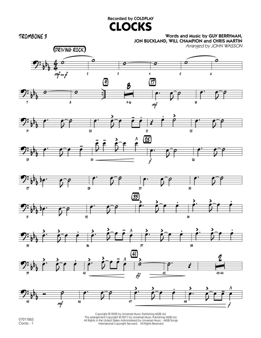 Clocks - Trombone 3