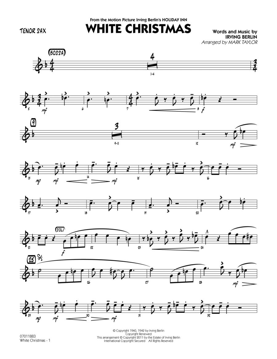 White christmas tenor sax
