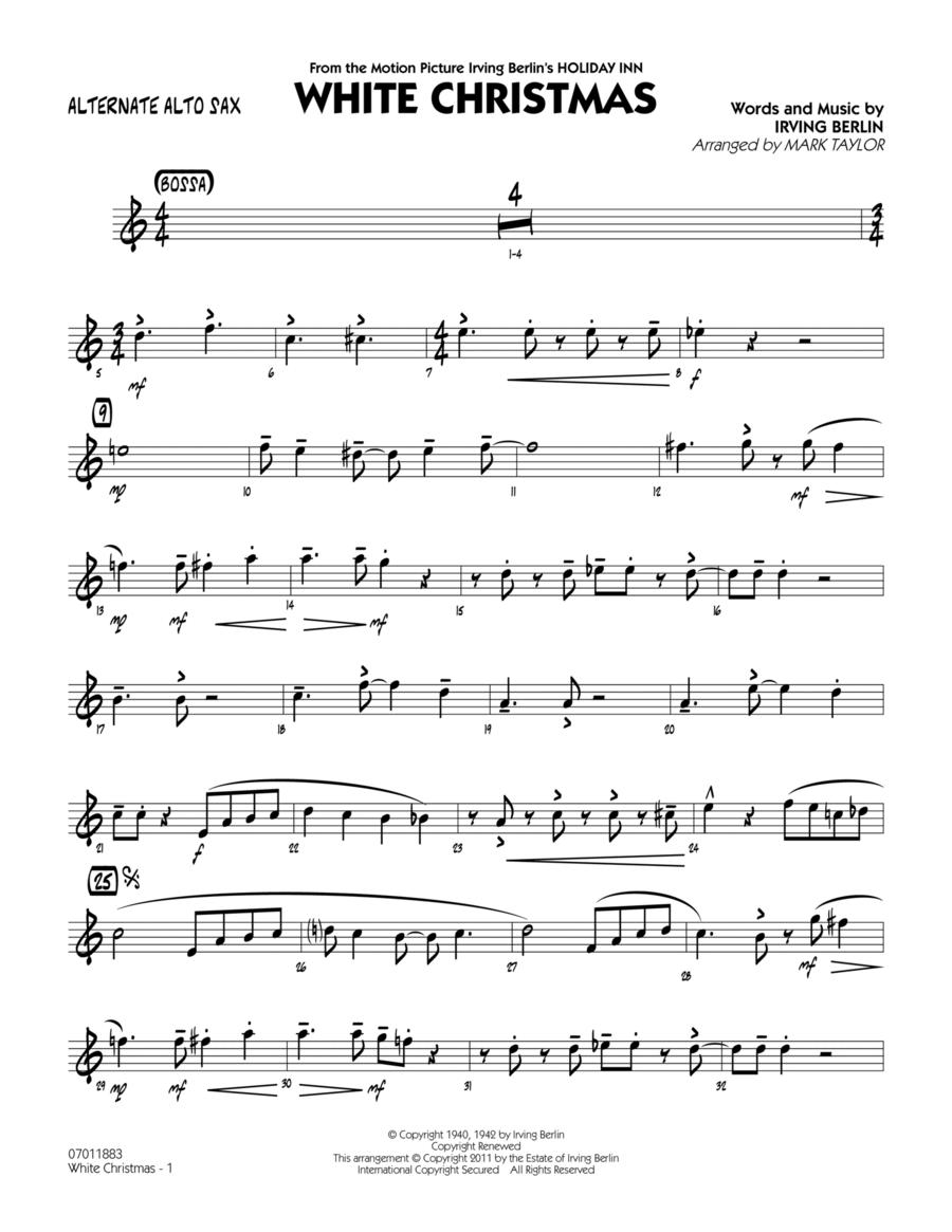 White Christmas - Alternate Alto Sax