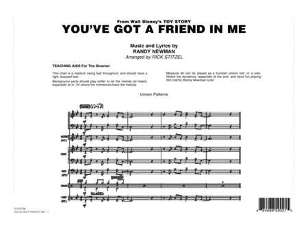 You've Got A Friend In Me - Full Score