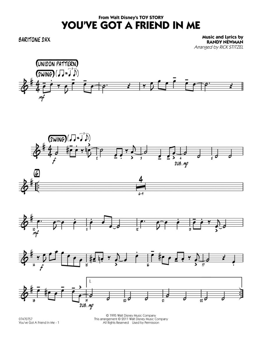 You've Got A Friend In Me - Baritone Sax