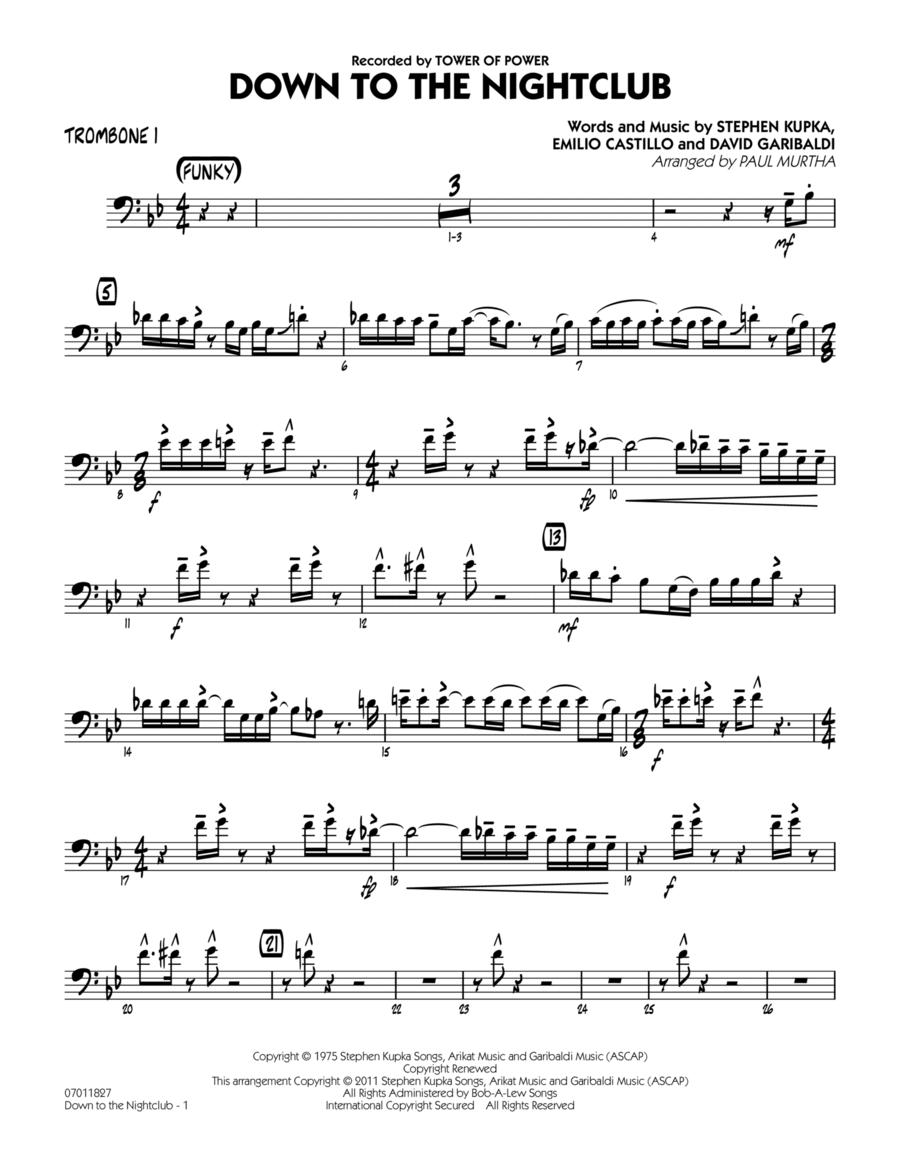Down To The Nightclub - Trombone 1