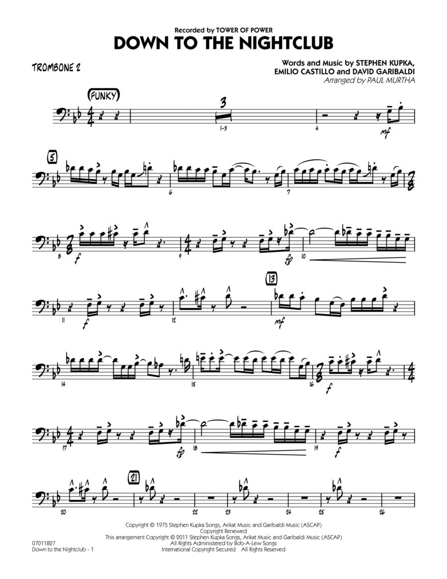 Down To The Nightclub - Trombone 2