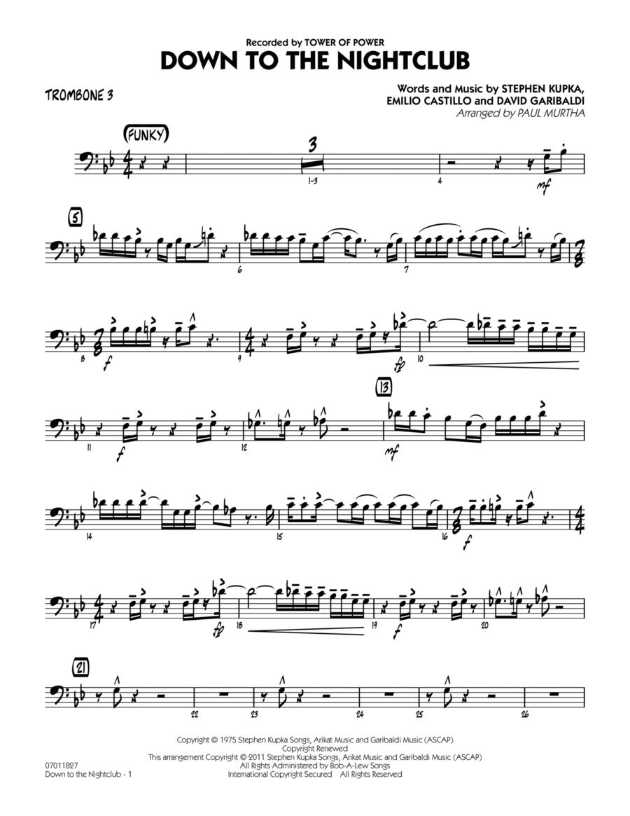 Down To The Nightclub - Trombone 3