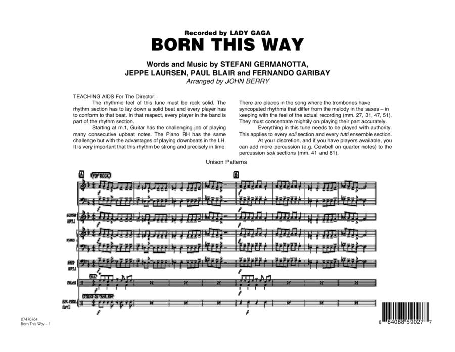 Born This Way - Full Score