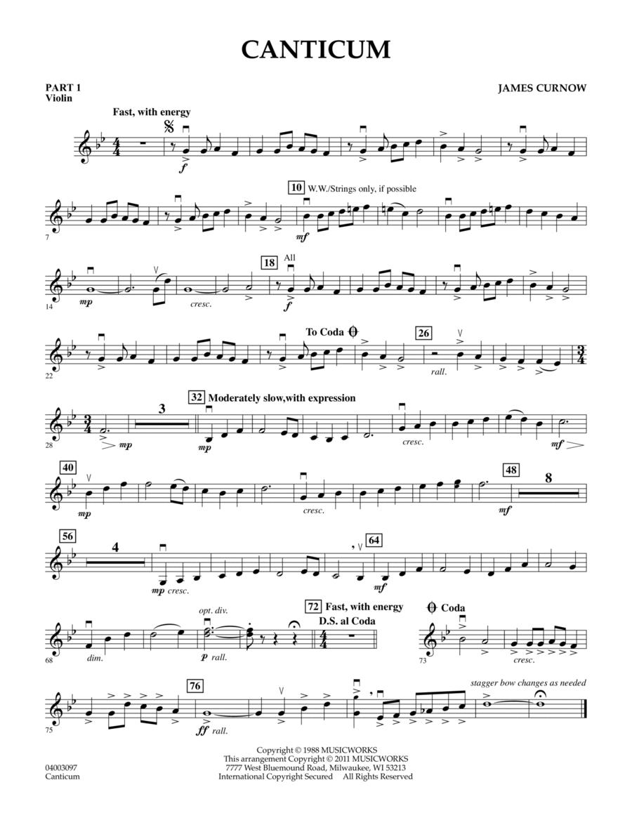 Canticum - Pt.1 - Violin