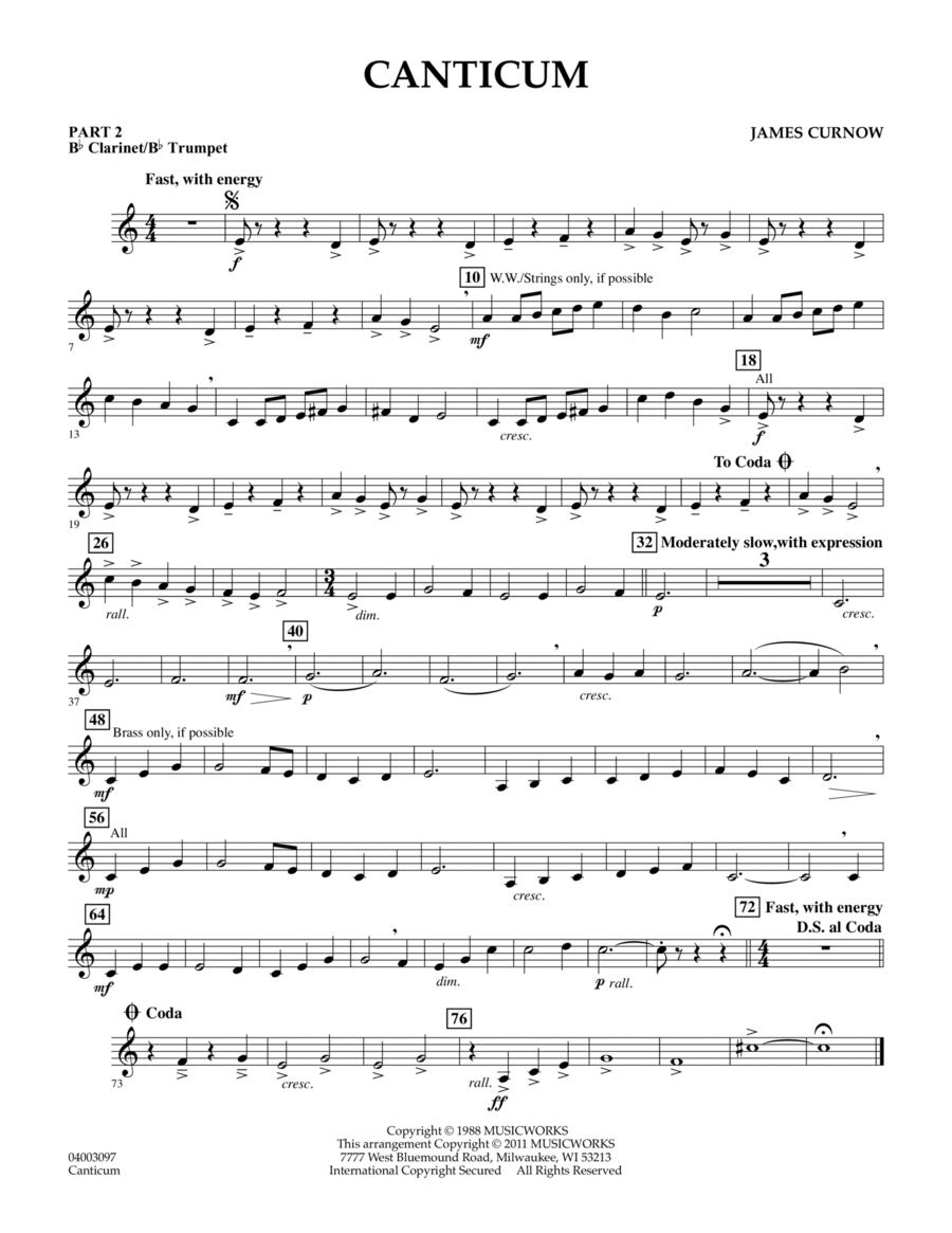 Canticum - Pt.2 - Bb Clarinet/Bb Trumpet