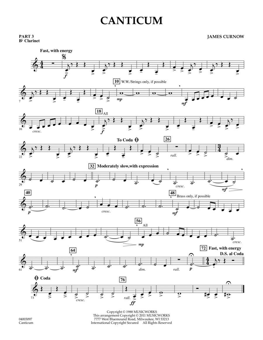 Canticum - Pt.3 - Bb Clarinet