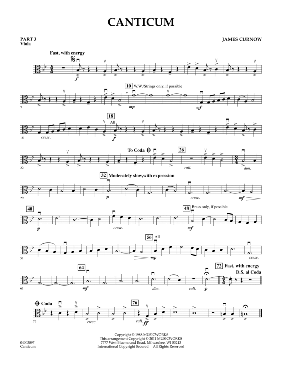 Canticum - Pt.3 - Viola