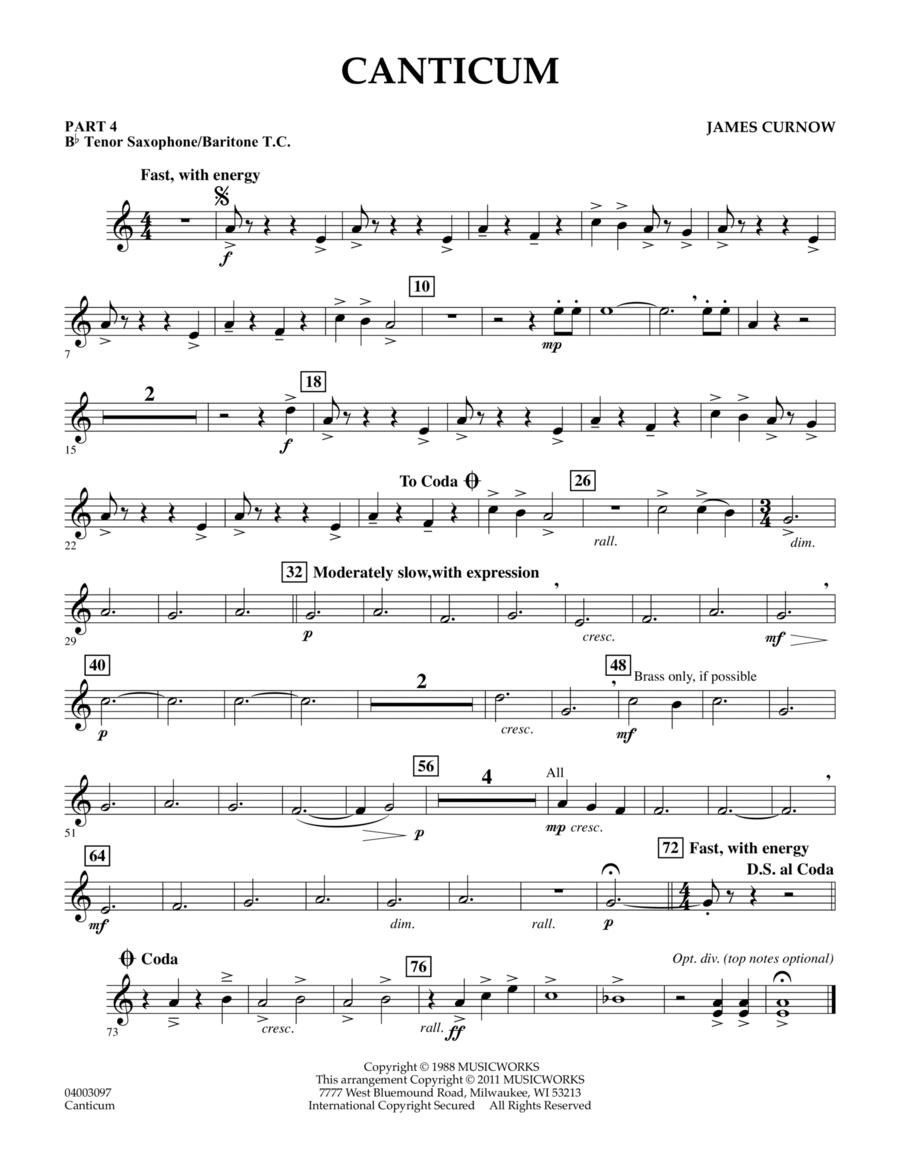 Canticum - Pt.4 - Bb Tenor Sax/Bar. T.C.