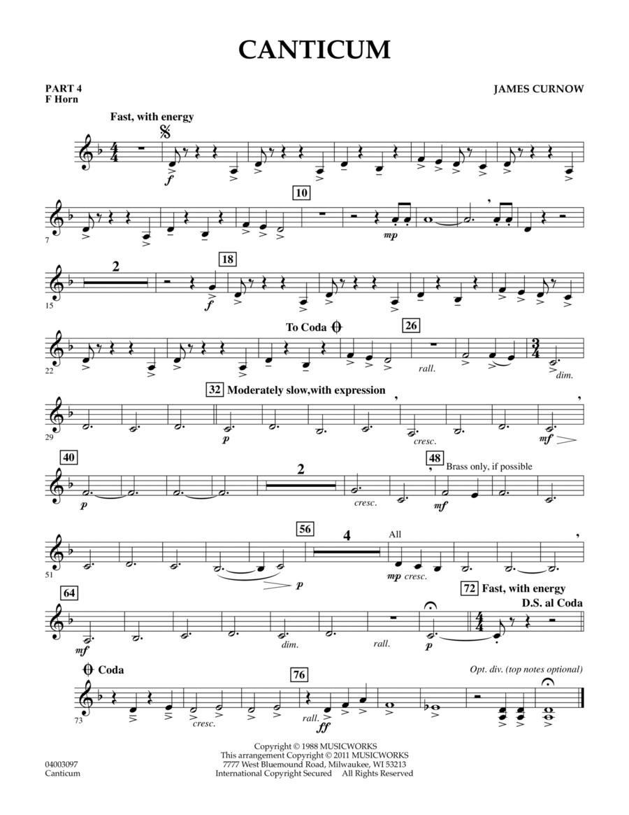 Canticum - Pt.4 - F Horn