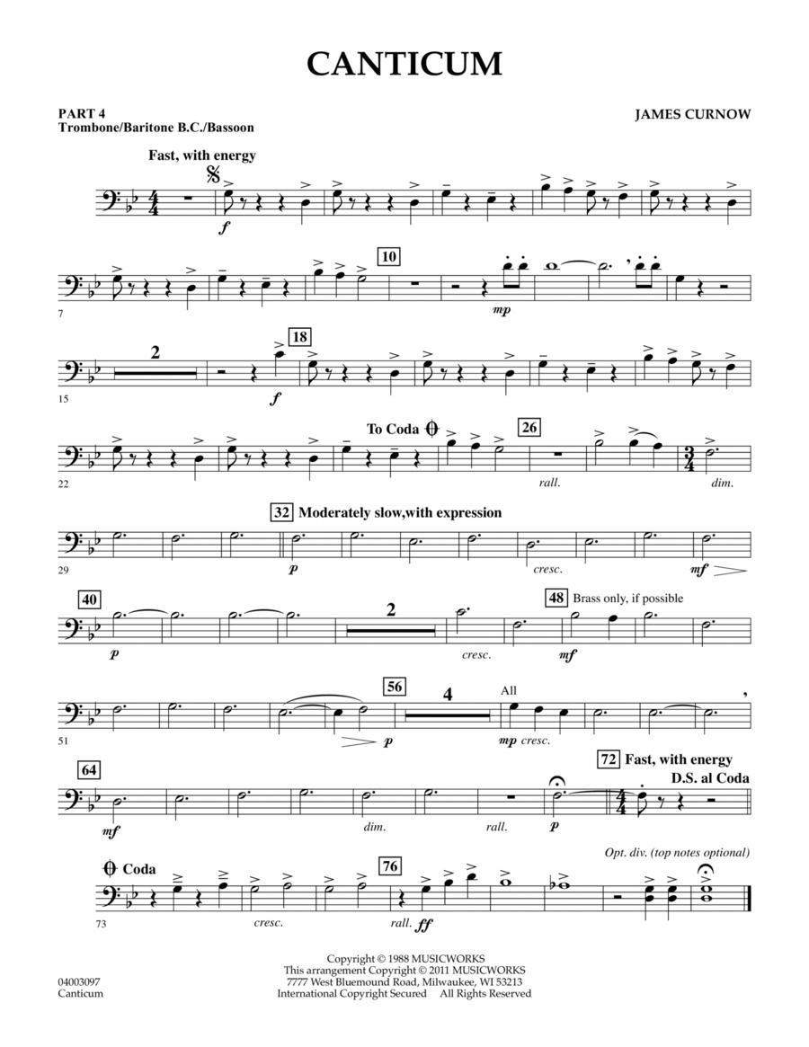 Canticum - Pt.4 - Trombone/Bar. B.C./Bsn.