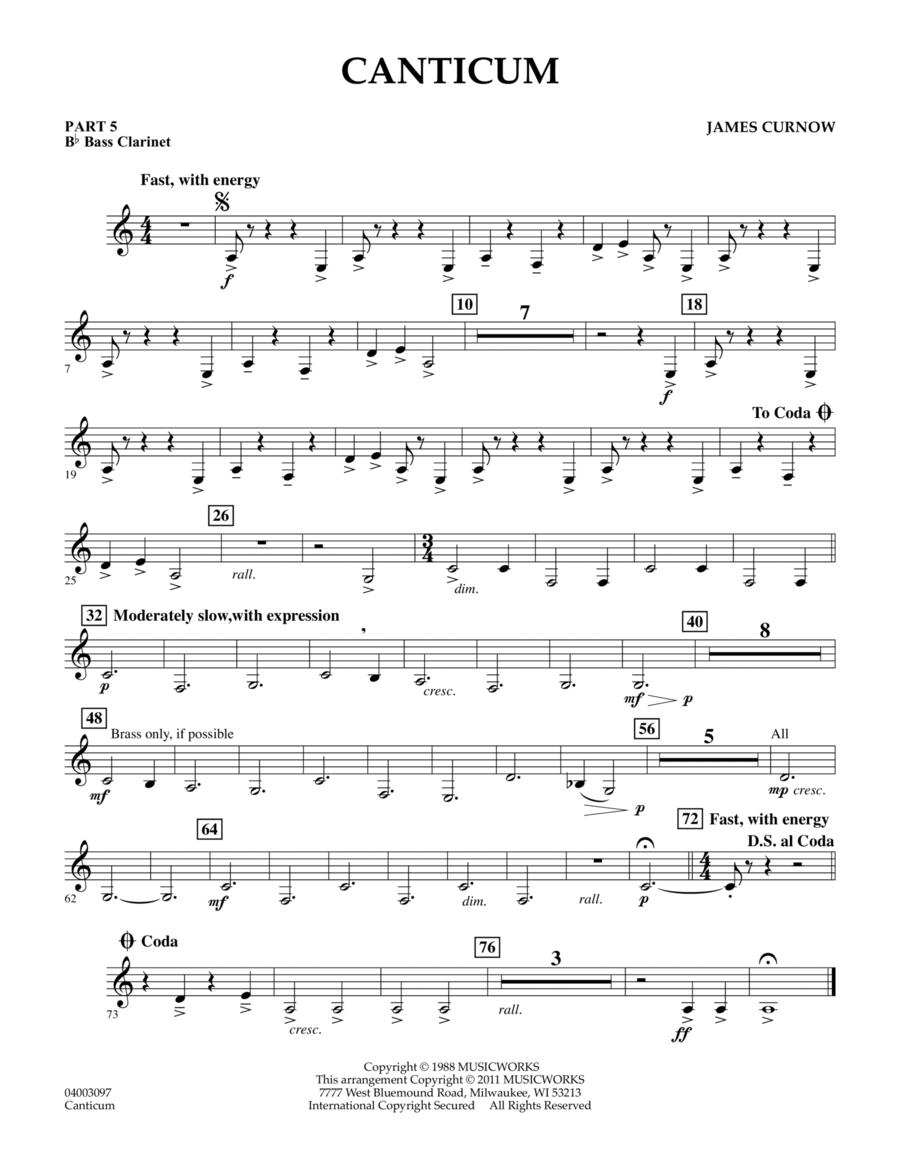 Canticum - Pt.5 - Bb Bass Clarinet