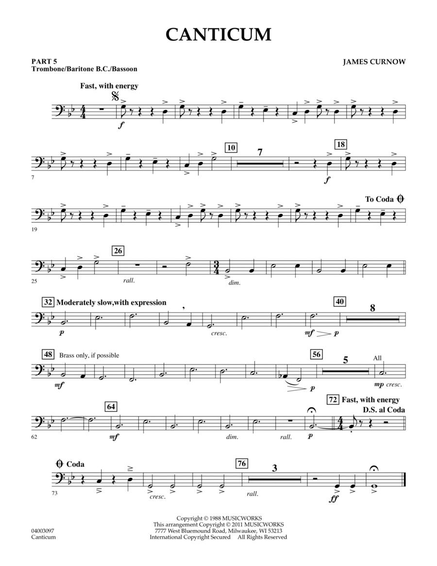 Canticum - Pt.5 - Trombone/Bar. B.C./Bsn.
