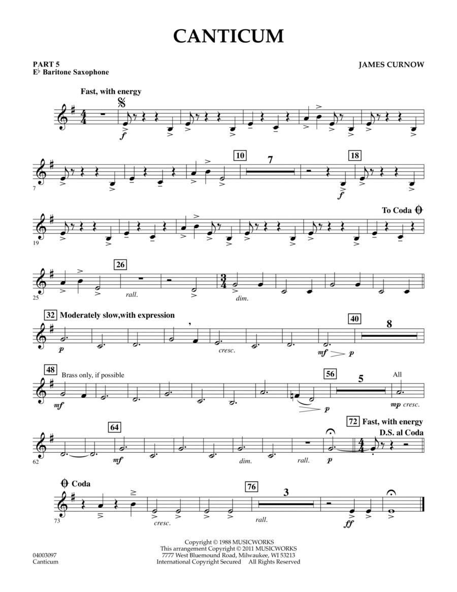 Canticum - Pt.5 - Eb Baritone Saxophone