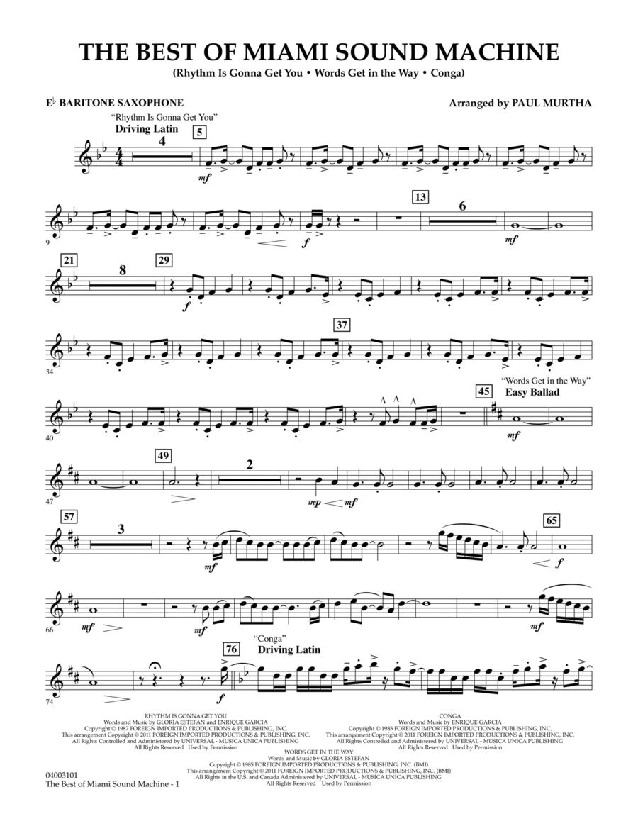The Best Of Miami Sound Machine - Eb Baritone Saxophone