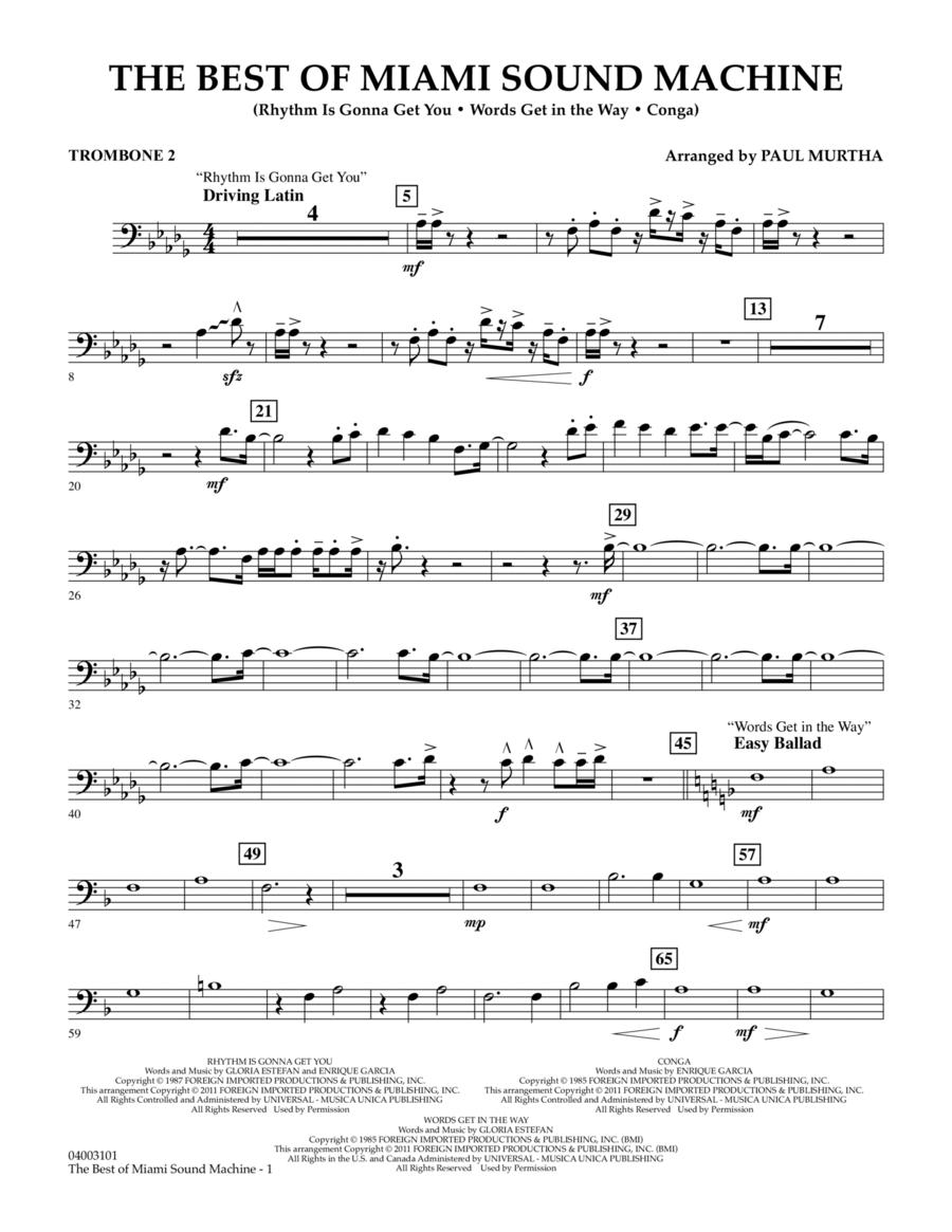 The Best Of Miami Sound Machine - Trombone 2