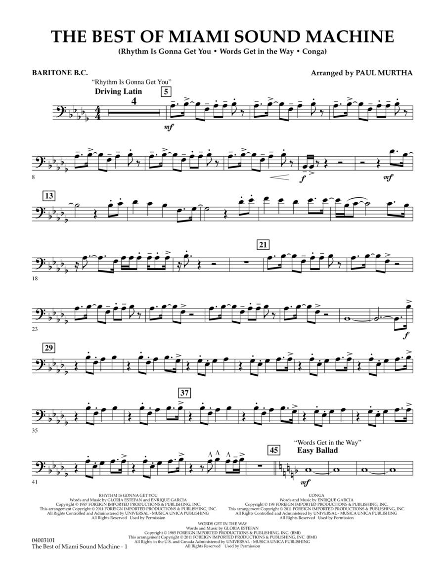 The Best Of Miami Sound Machine - Baritone B.C.