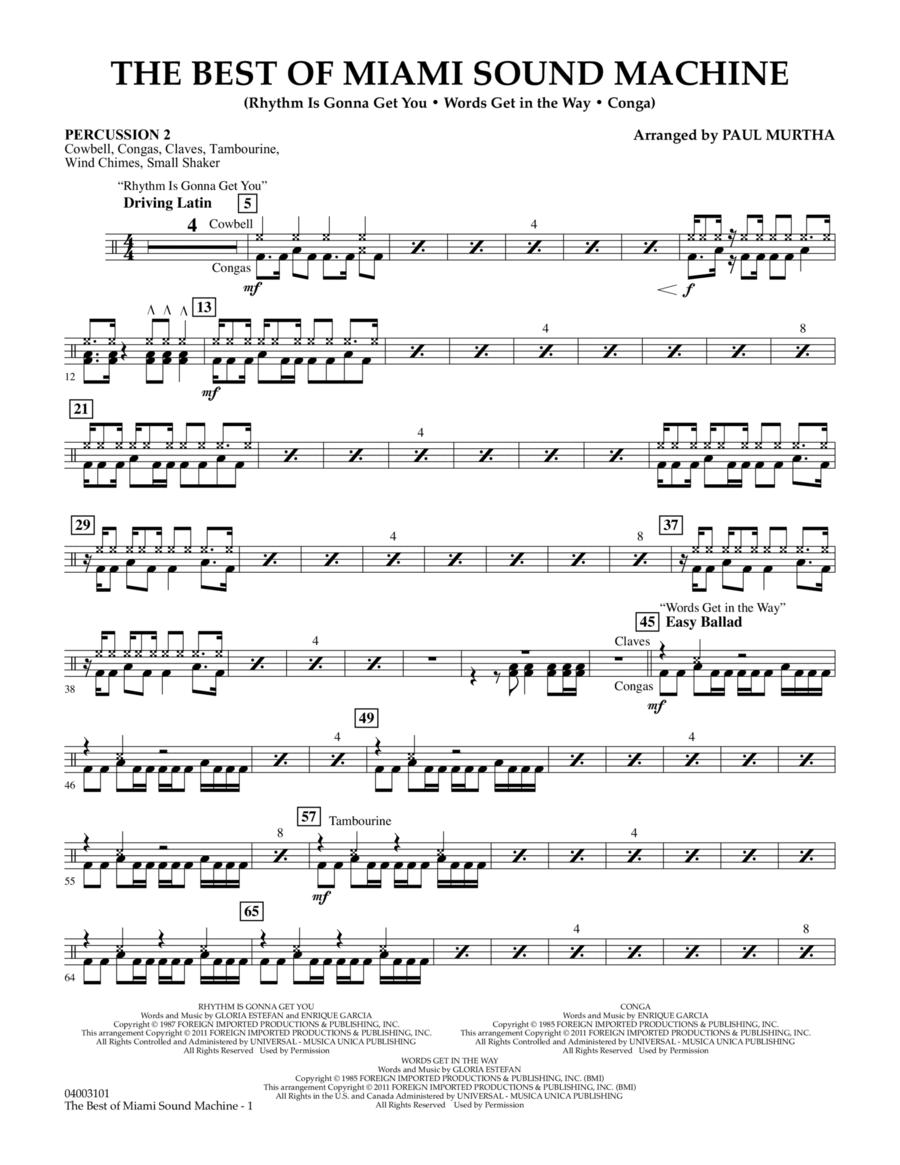 The Best Of Miami Sound Machine - Percussion 2