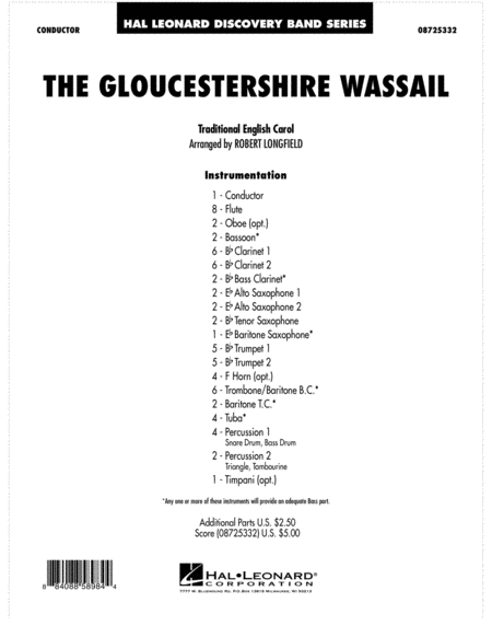 The Gloucestershire Wassail - Full Score