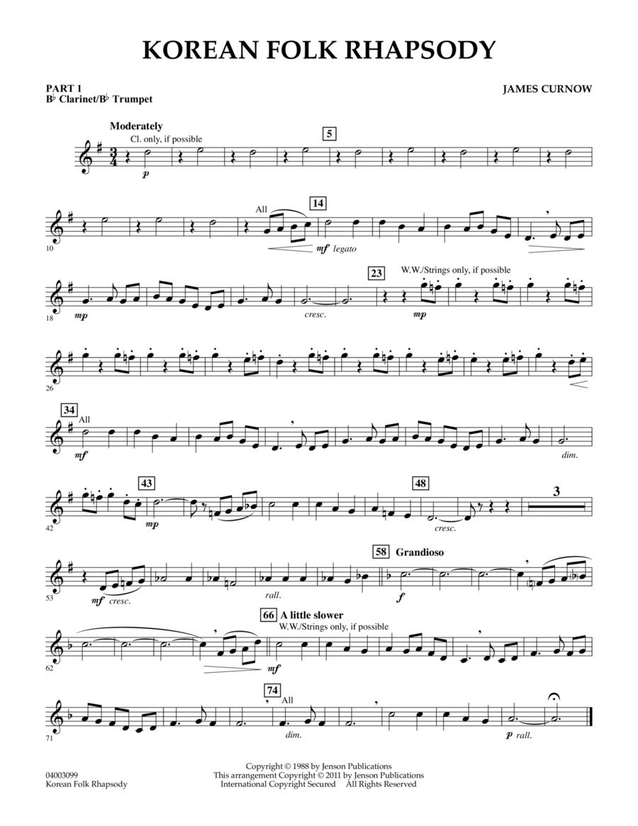 Korean Folk Rhapsody - Pt.1 - Bb Clarinet/Bb Trumpet