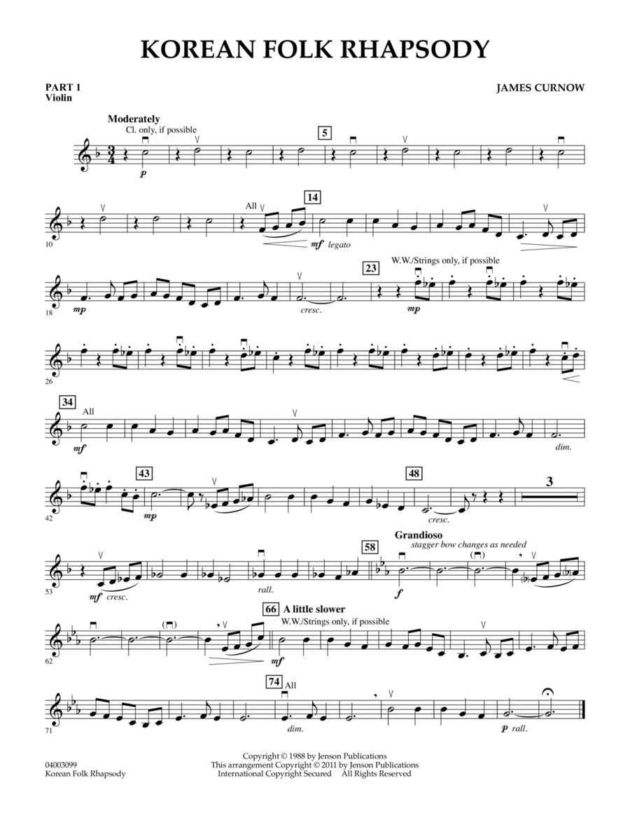 Korean Folk Rhapsody - Pt.1 - Violin