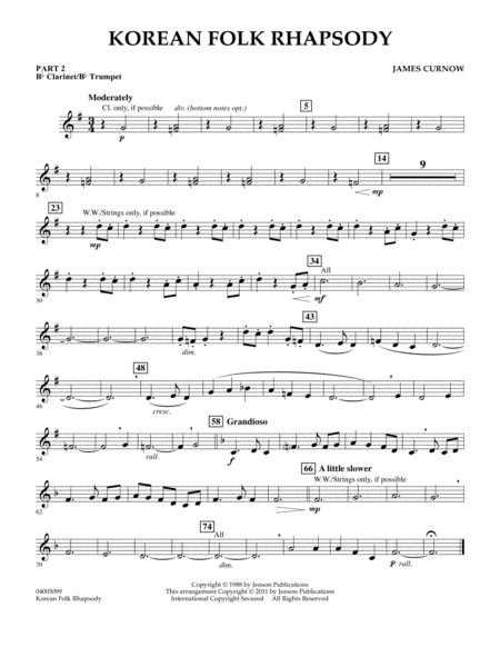 Asian free sheet music