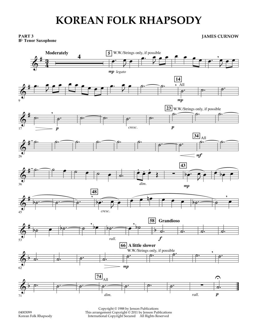 Korean Folk Rhapsody - Pt.3 - Bb Tenor Saxophone