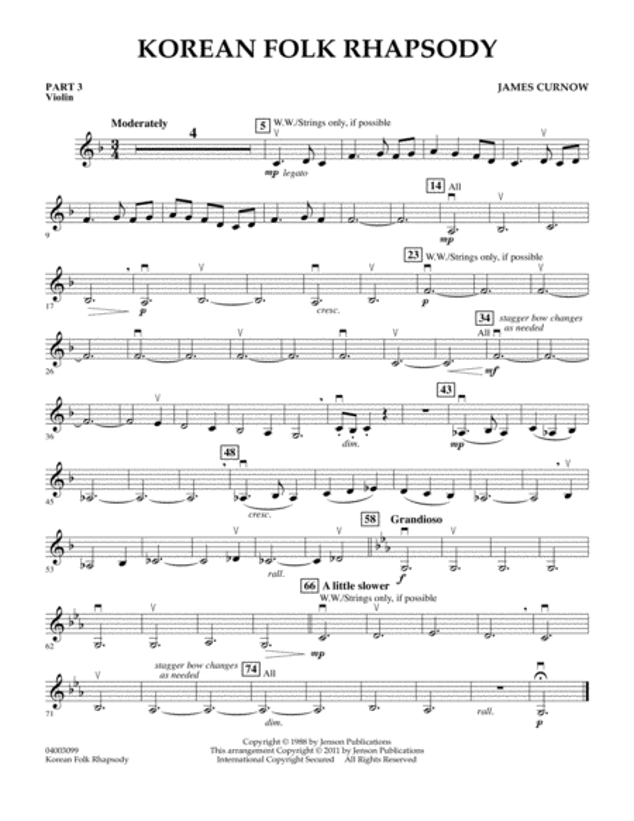 Korean Folk Rhapsody - Pt.3 - Violin