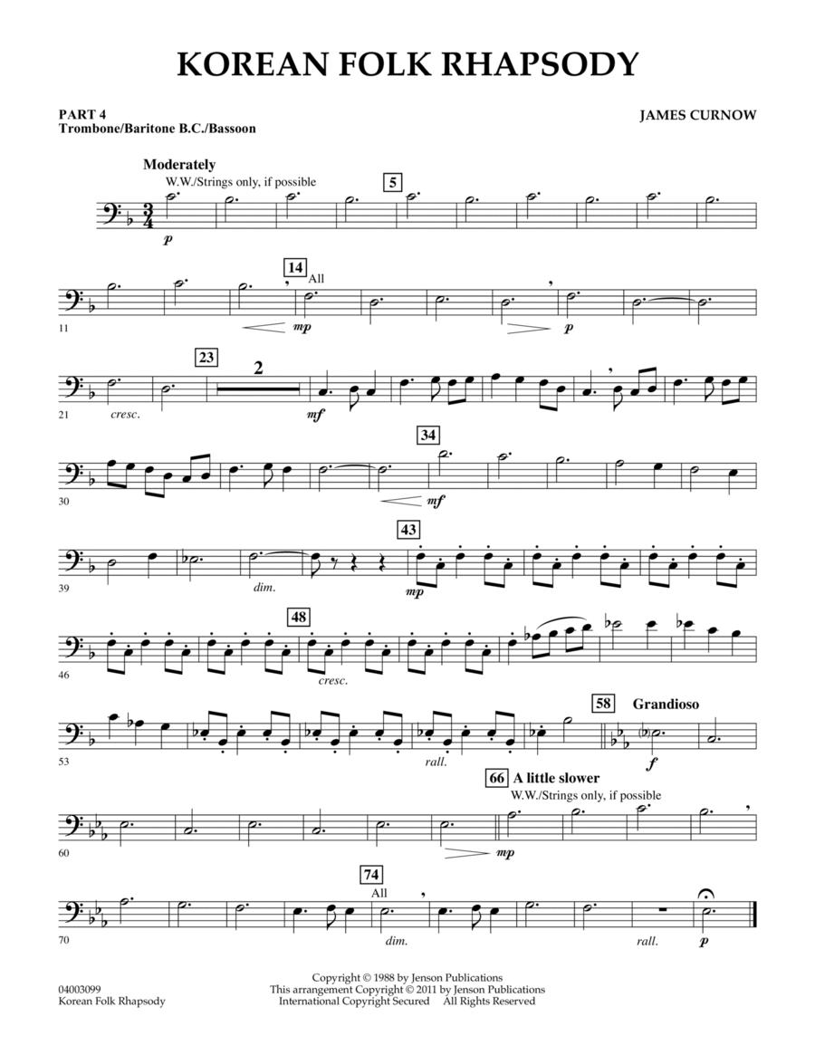 Korean Folk Rhapsody - Pt.4 - Trombone/Bar. B.C./Bsn.