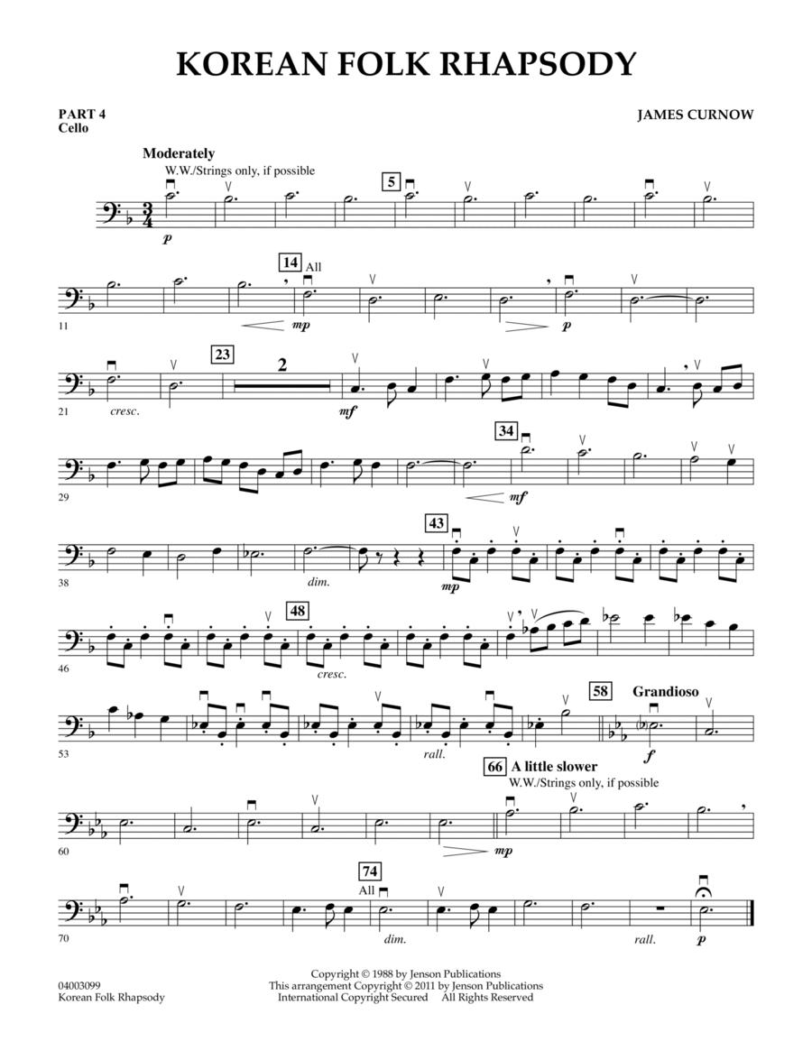 Korean Folk Rhapsody - Pt.4 - Cello