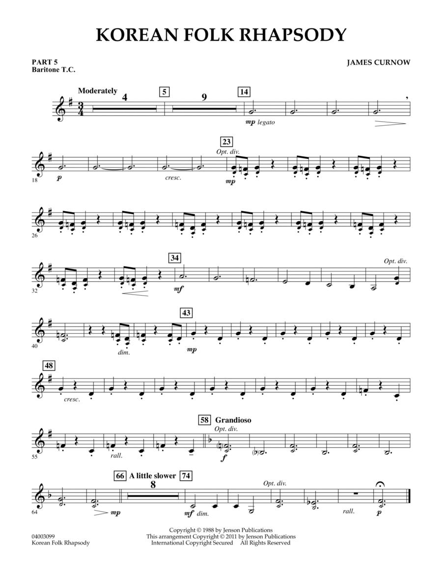 Korean Folk Rhapsody - Pt.5 - Baritone T.C.