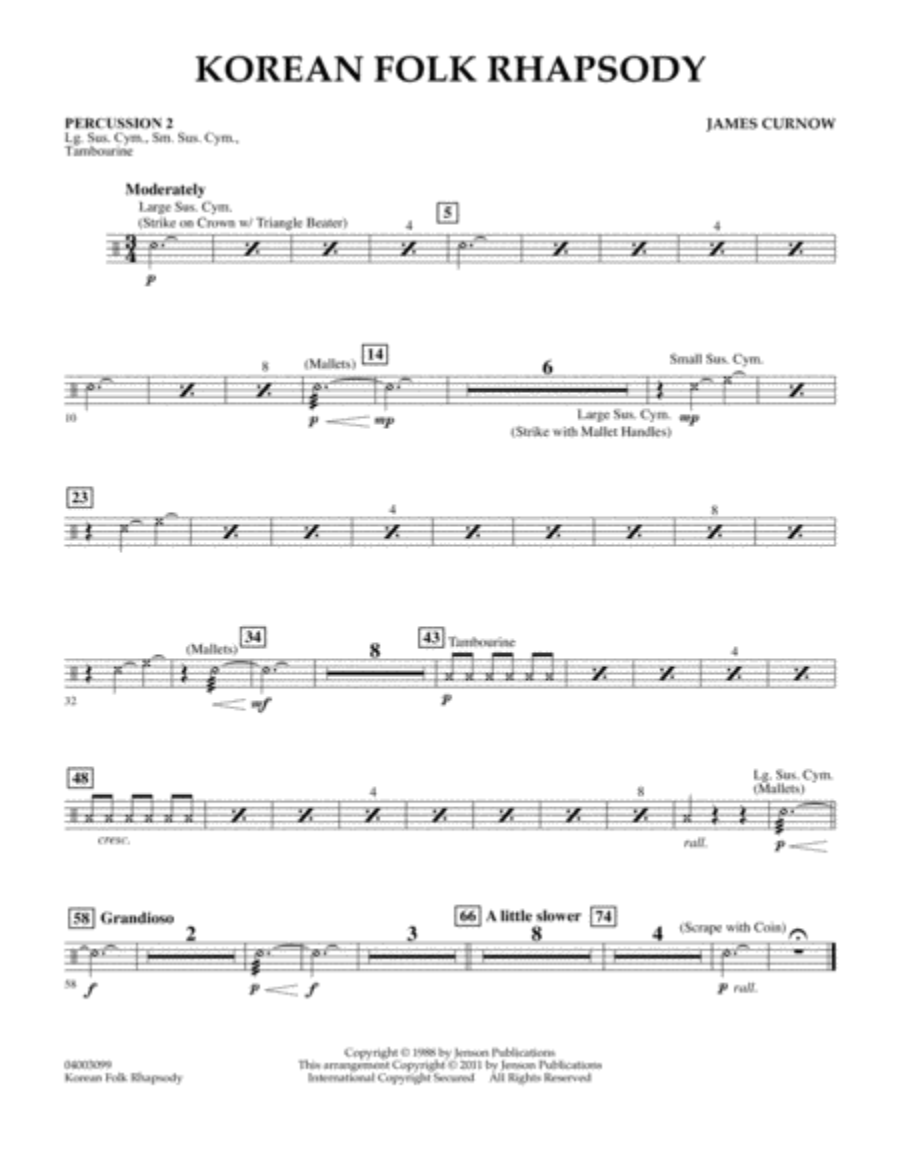 Korean Folk Rhapsody - Percussion 2