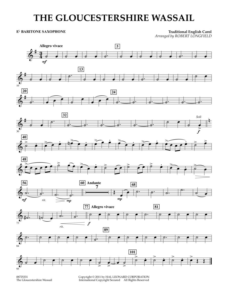 The Gloucestershire Wassail - Eb Baritone Saxophone
