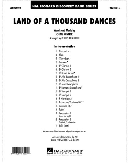 Land Of A Thousand Dances - Full Score