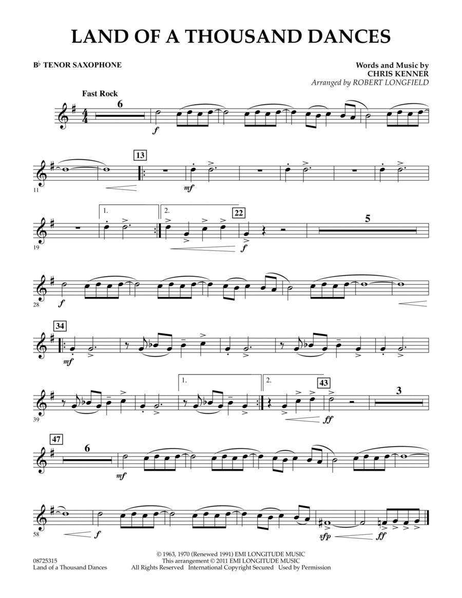 Land Of A Thousand Dances - Bb Tenor Saxophone