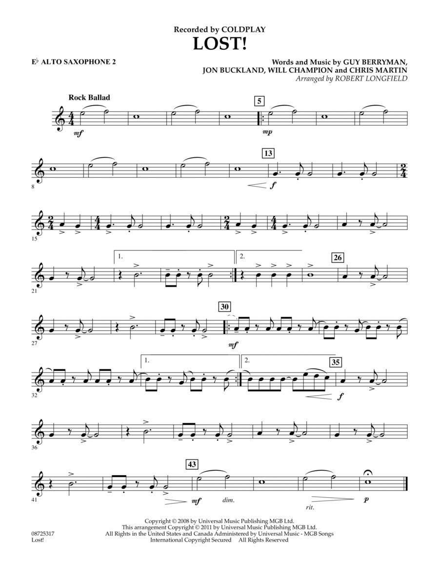 Lost! - Eb Alto Saxophone 2