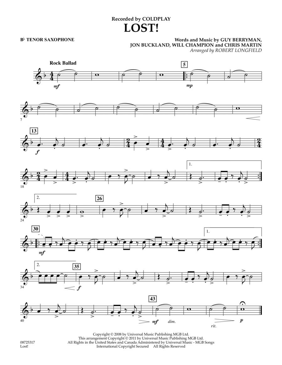 Lost! - Bb Tenor Saxophone