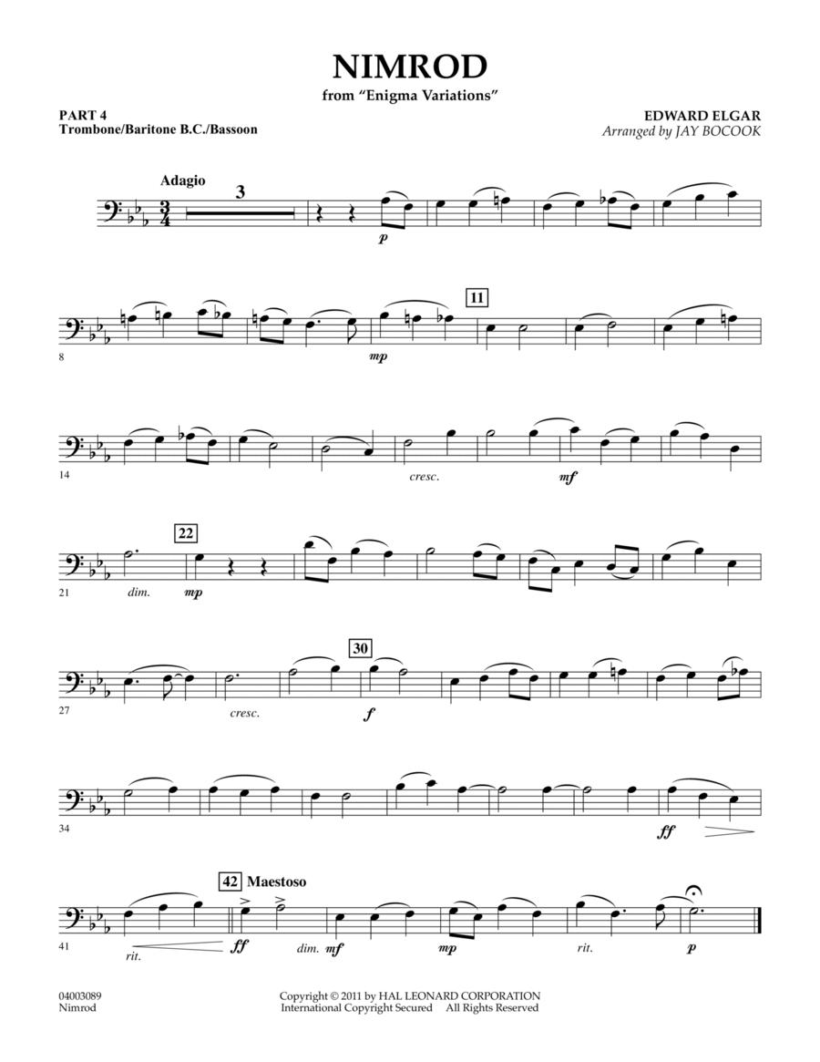 Nimrod (from Enigma Variations) - Pt.4 - Trombone/Bar. B.C./Bsn.