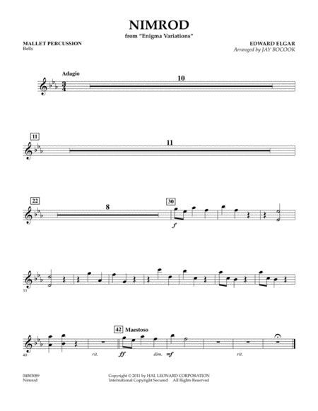 Nimrod (from Enigma Variations) - Mallet Percussion