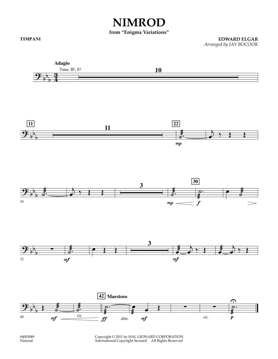 Nimrod (from Enigma Variations) - Timpani