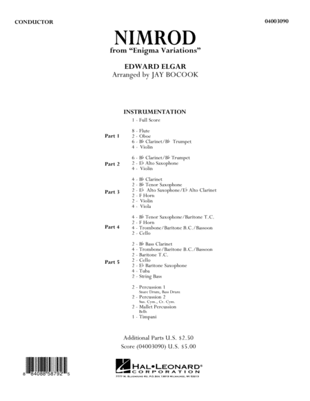 Nimrod (from Enigma Variations) - Full Score